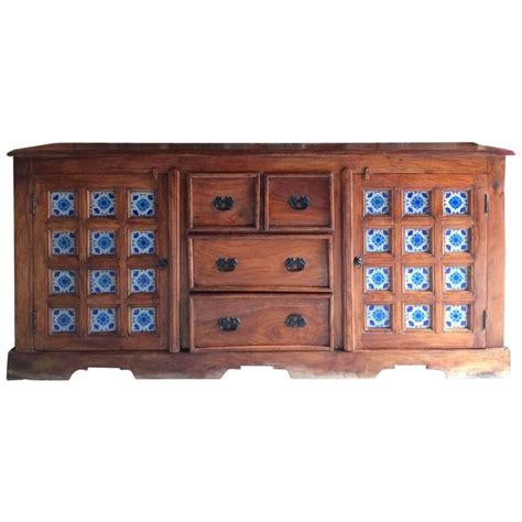 Tiled Dresser by Antique Style Arabic Sideboard Credenza Dresser Tiled