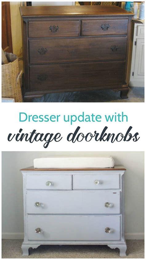 update a dresser dresser update with vintage door knobs lovely etc
