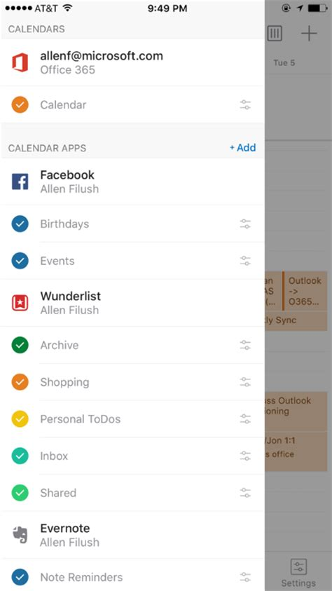 outlook calendar android outlook ios y android ya permite importar tareas eventos y notas de wunderlist y