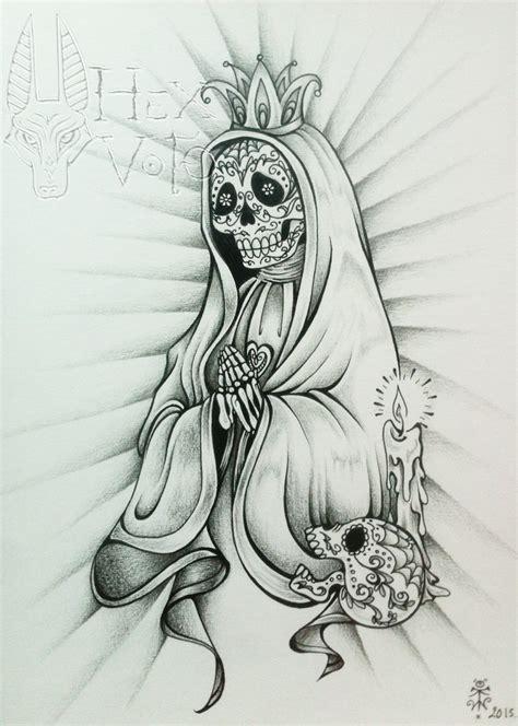 muerte tattoo design santa muerte dessin original dessins par hex voto