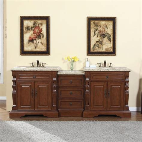 90 inch traditional bathroom vanity with venetian