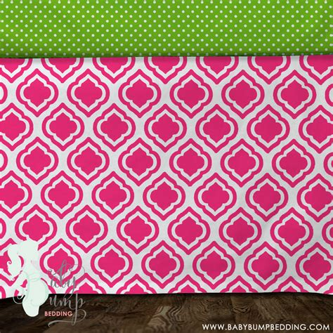 lime green bed skirt hot pink lime green baby girl crib skirt