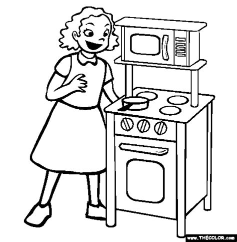 kitchen set picture to color play kitchen coloring page free play kitchen online coloring
