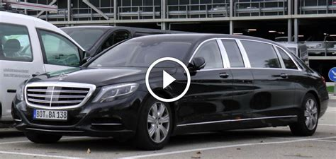 mercedes maybach s600 pullman test vehicle spotted