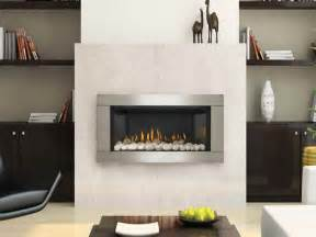 Mantels For Gas Fireplaces - gas wall fireplace with white stones quecasita