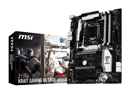 Mainboard Msi Z170a Krait Gaming R6 Siege Atx Lga 1151 1 msi z170a krait gaming r6 siege edition und code aktion hardware journal