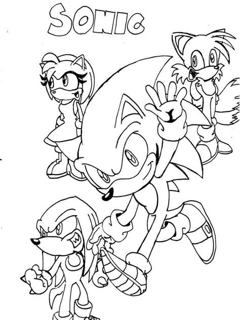 sonic and friends coloring pages image www aidecworld com