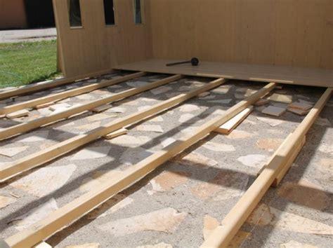 Come Costruire Una Pedana Rialzata by Basamento Casetta In Legno