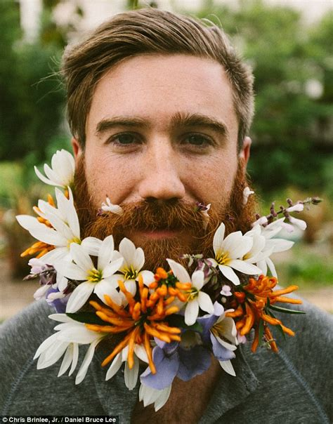 in pics men with flowers in their beards stuff co nz does the flower beard garden hold up in real life we took