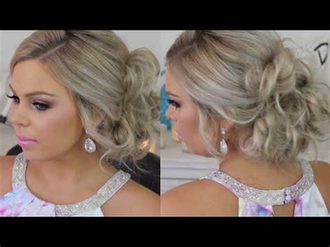 Formal Hair Messy Side Bun Tutorial   YouTube