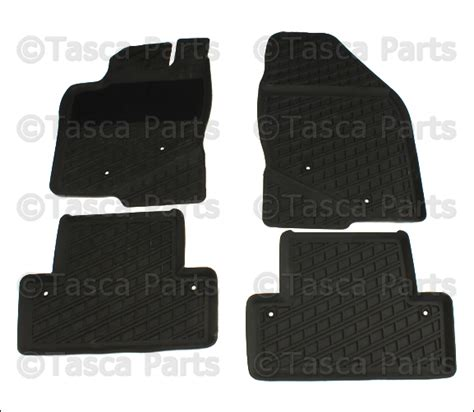 brand new oem set of 4 gray all weather rubber floor mats