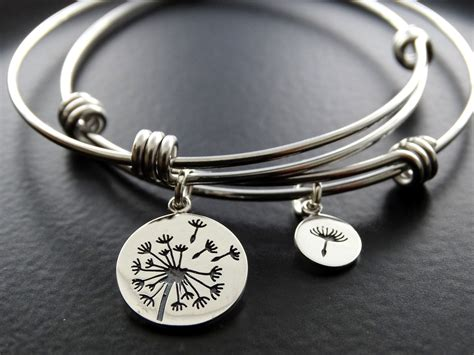 7 Pretty Charms For Your Daughters Charm Bracelet by Dandelion Bracelet Set Bangle Bracelet