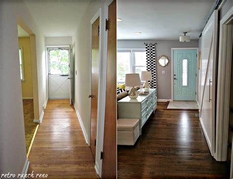 interior home renovations retro ranch reno our rancher before after the entrance