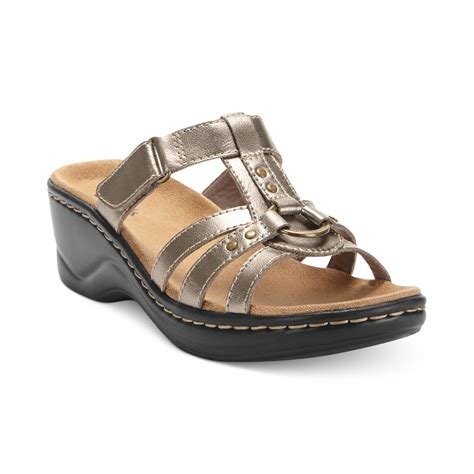 clark sandals for clarks womens shoes sandals in black lyst