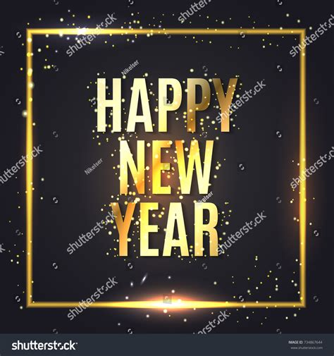 new year wishes vector happy new year wishes greeting card stock vector 734867644