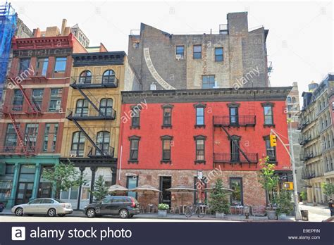 the brick building the view in new york city stock photo royalty free image