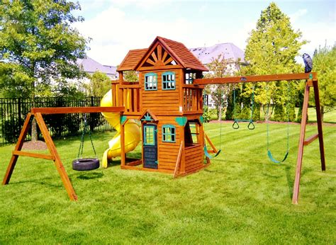 cedar wood swing sets swing sets assembly and installation nj