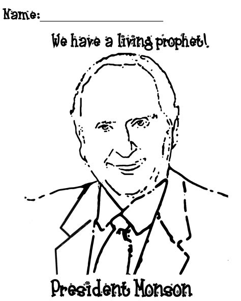 president monson coloring page jenny smith s lds ideas