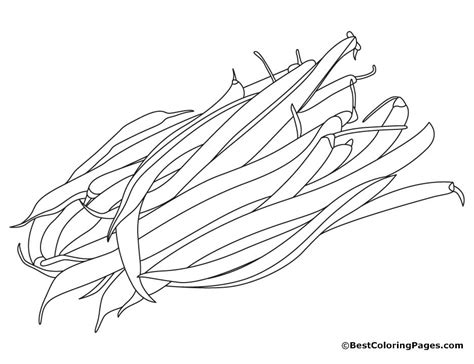 green beans coloring page free az coloring pages