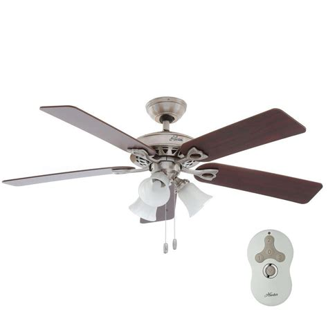 brushed nickel ceiling fan with remote sontera 52 in indoor brushed nickel ceiling fan