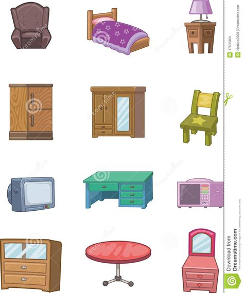 Free Home Design Tool 3d cartoon furniture icon stock photo image 17635360
