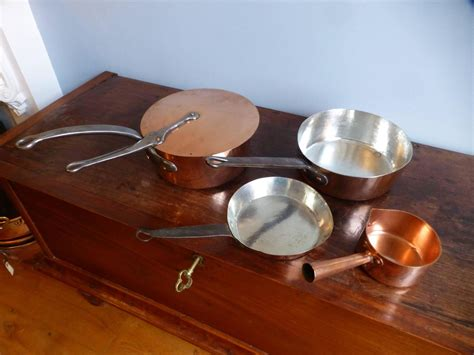 beautiful re tinned set of copper pans copper pots for