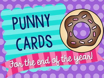 end of year greetings end of year cards for students coworkers punny with treats gift idea from