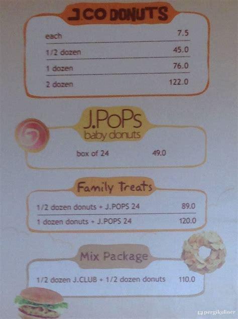 Menu Dan Jco Coffee menu j co donuts coffee gandaria