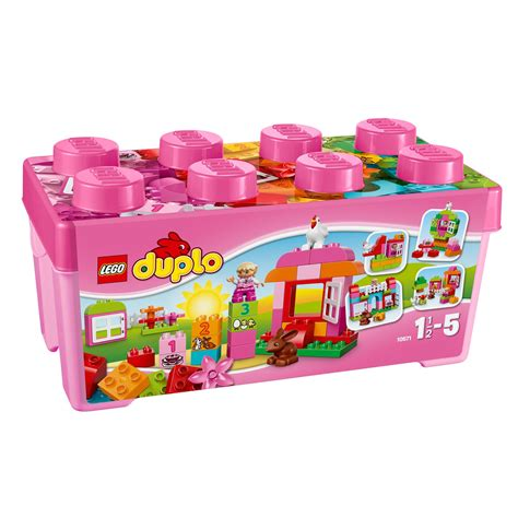lego box lego duplo all in one pink box of 10571 163 25 00