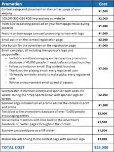 sponsorship package template doc 596728 sponsorship package exle sle
