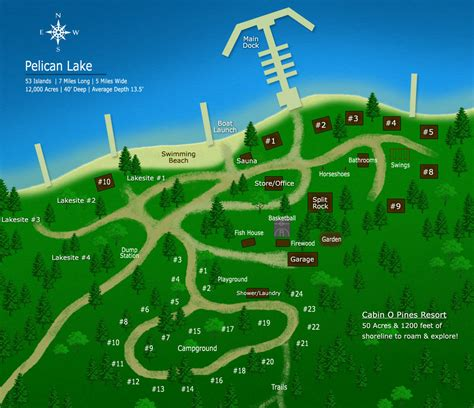 Vacation Cabin Plans cabin o pines resort map orr mn pelican lake