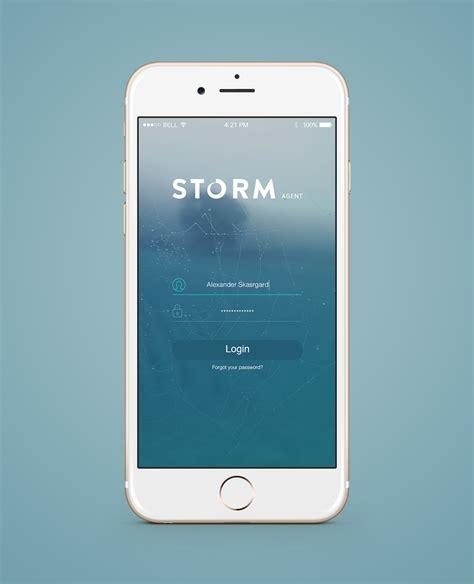 3 mobile login ios app login screen concept on behance