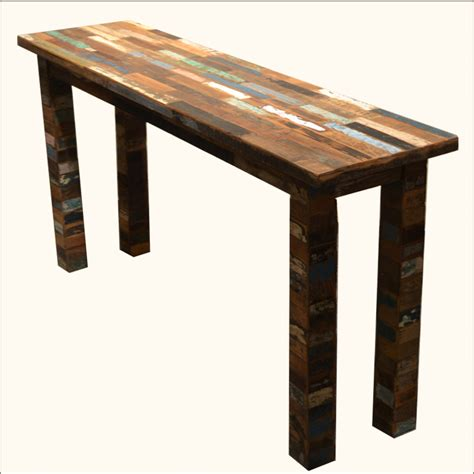 reclaimed wood entry table rustic reclaimed wood entry way console distressed foyer