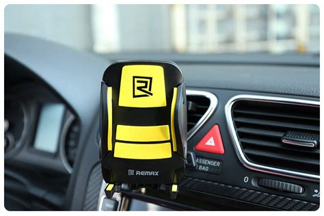 Ready Remax Air Vent Smartphone Holder Rm C03 remax air vent smartphone holder rm c03 hitam kuning lazada indonesia