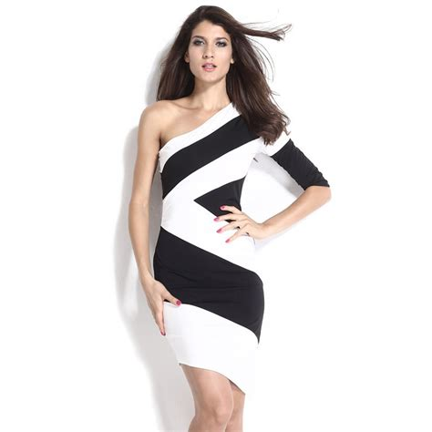 Dress Model Black White Impor 2015 summer dress black and white stitching vestidos femininos europe and america dress