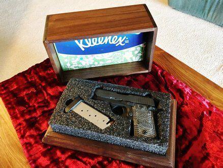 simple tissue box  hide  gun hidden gun storage