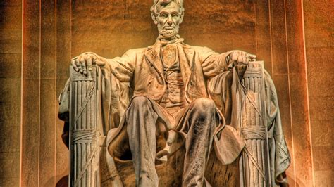hdr monument of abraham lincoln memorial in washington dc