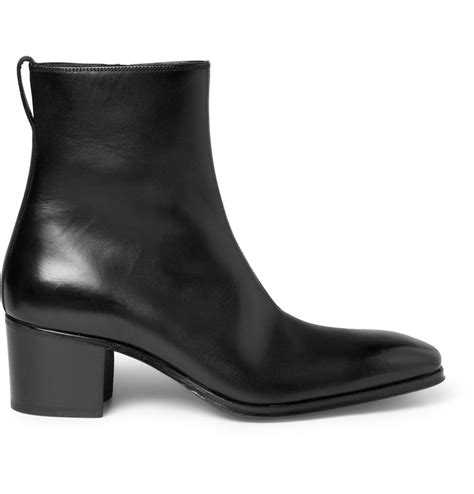 mens laurent boots laurent johnny leather ankle boots in black for