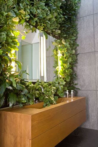 bathroom artificial plants the easy way to add a living wall in a bathroom