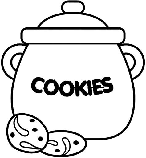 Cookie Jar Coloring Page cookie jar counting coloring pages coloring sky