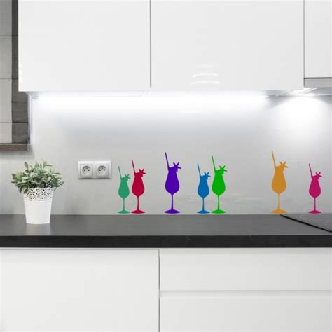 cocktail food drink wall sticker pack