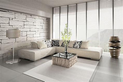 Living Room Wallpaper Ideas White Black by Salon Design Parquet Carrelage Interieur De Luxe