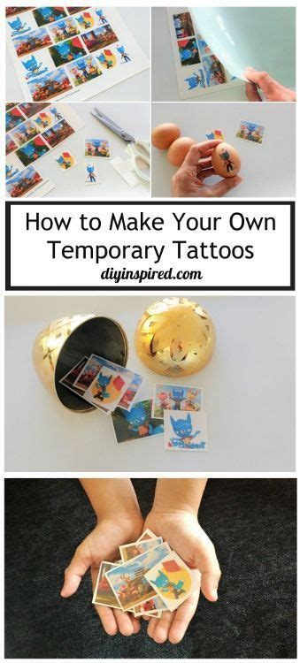 how to make removable tattoos how to make your own temporary tattoos temporary