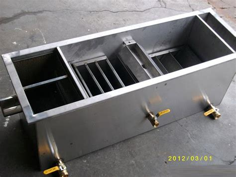 oil and grease trap for restaurant wastewater buy 10 gpm automatic commerical stainless steel oil grease