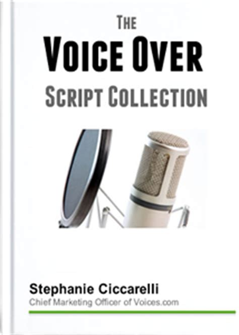 voice over resources voice over scripts commercial telephone and narration