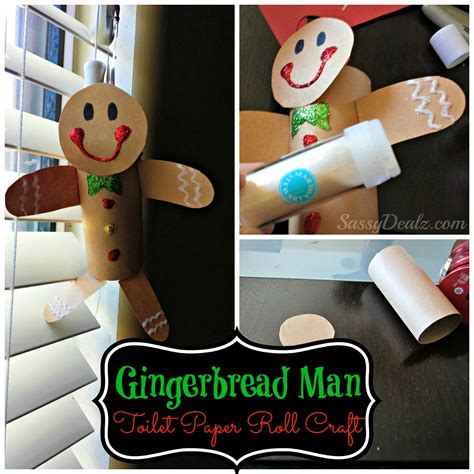 Crafts With Paper Rolls - gingerbread toilet paper roll craft for