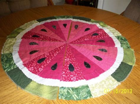 placemats watermelon for summer i have a round table this would table runner pattern runners and put together on pinterest
