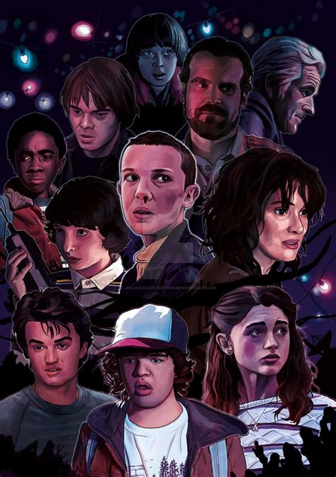 bioskopkeren stranger things season 1 stranger things season 1 by jfilholillustration on deviantart