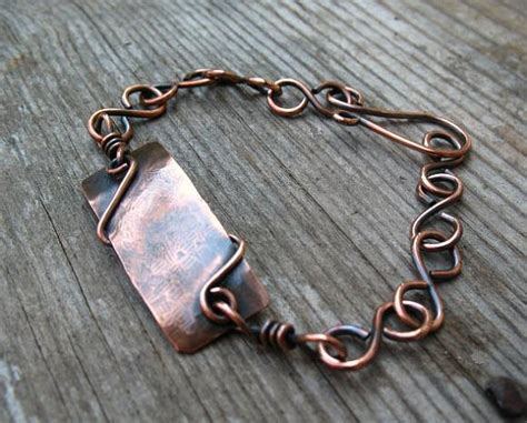 copper link bracelet handmade copper jewelry