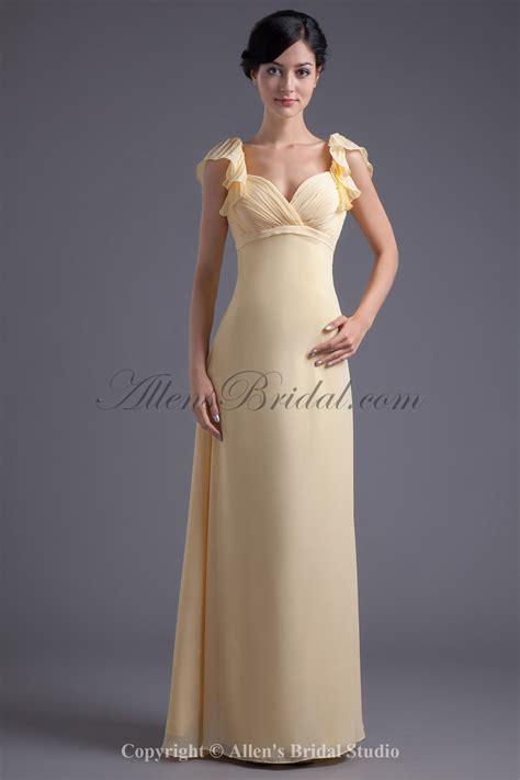 allens bridal chiffon sweetheart neckline sheath floor